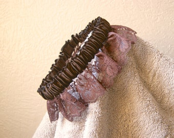 Silk and Lace Wedding Garter,  Steampunk Garter