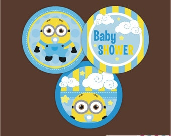 minions baby shower cupcake toppers cupcake toppers minions minions