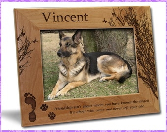 5x7 Personalized Custom Engraved Pet Dog Friendship Picture Frame