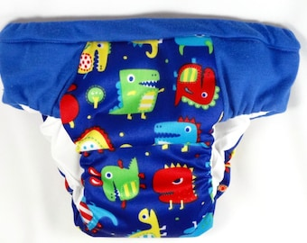 Dino Chompchomp Overnight Heavy Wetter training pants, Eco friendly reusable pullups, waterproof nighttime trainers, potty training pants