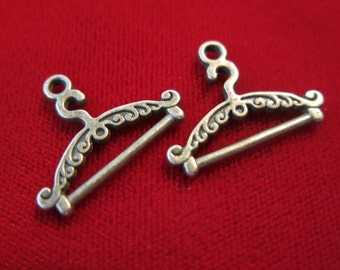 "10pc ""clothes hanger"" charms in antique bronze style (BC91)"