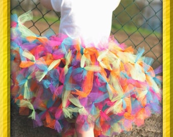 Boutique cupcake style tutu skirt and bow set only in your size