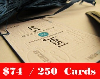 250 pcs. Custom Letterpress Business Cards