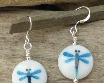 Glass Dragonfly Earrings