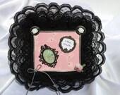 FairyLace Magnet ,Locker Magnet, Dorm Decor,  Memo Holder, Office Magnet, Refrigerator Magnet, Back to School