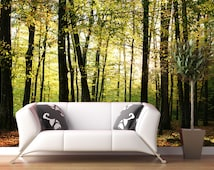 Play of lights wall mural, reposition able and removable wall paper, wall covering