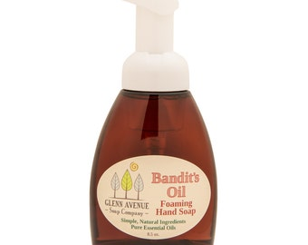 Bandit's Oil Foaming Hand Soap - Genuine Soap made from 100% Organic oils and pure essential oils
