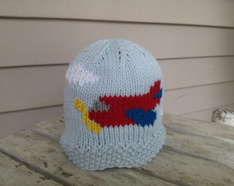 items similar to airplane plane crochet beanie skullcap hat cute costume idea all sizes. Black Bedroom Furniture Sets. Home Design Ideas