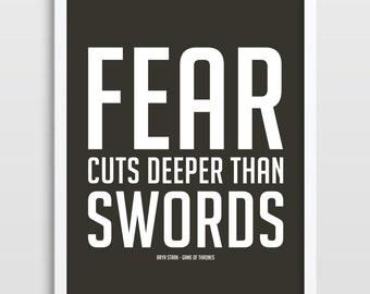Game Of Thrones, Inspirational Quote, Typographic Print, Arya Stark, Thrones Quote, TV Series, Typography Poster. Minimalistic Art.