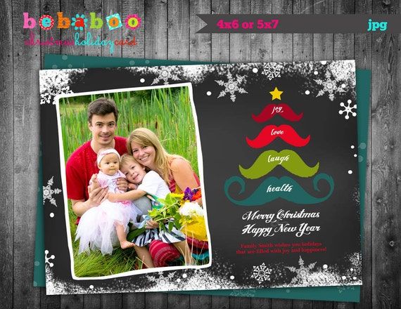 Downloadable Christmas Card Template $10.56 on Etsy.