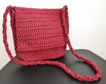 Knit Purse ,Shoulder Bag ,Burgundy,purse,bag, Free shipping in the US