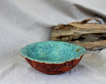 "Bowl of red clay, fruit bowl ""Provence"""