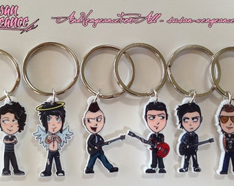 1.5 Inch OLD STYLE Avenged Sevenfold Acrylic Charm Keychains SINGLES