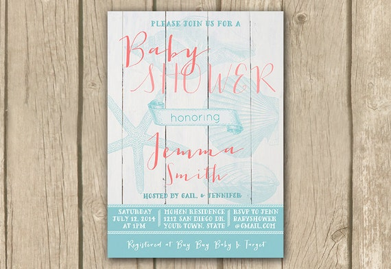 beach baby shower invitations unisex baby shower invitation unisex