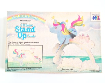 Vintage My Little Pony Moonstone 3-D Jigsaw Puzzle