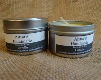 Handmade Beeswax & Soy Candle