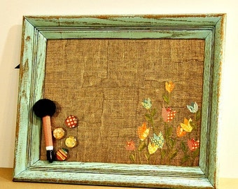 FREE SHIPPING, Office Board, Tulips, Message Board, Magnetic Dry Erase Board, Framed Magnet Board, Rustic, Wall Organizer, Kitchen Decor