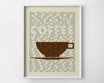 Coffee Kitchen Print, Kitchen Wall Decor, Kitchen Wall Art, Typography Poster, Coffee Print, Kitchen Quote Art, Restaurant Art, 0052