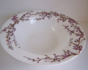 Large Personal Bowl with Cherry Blossom
