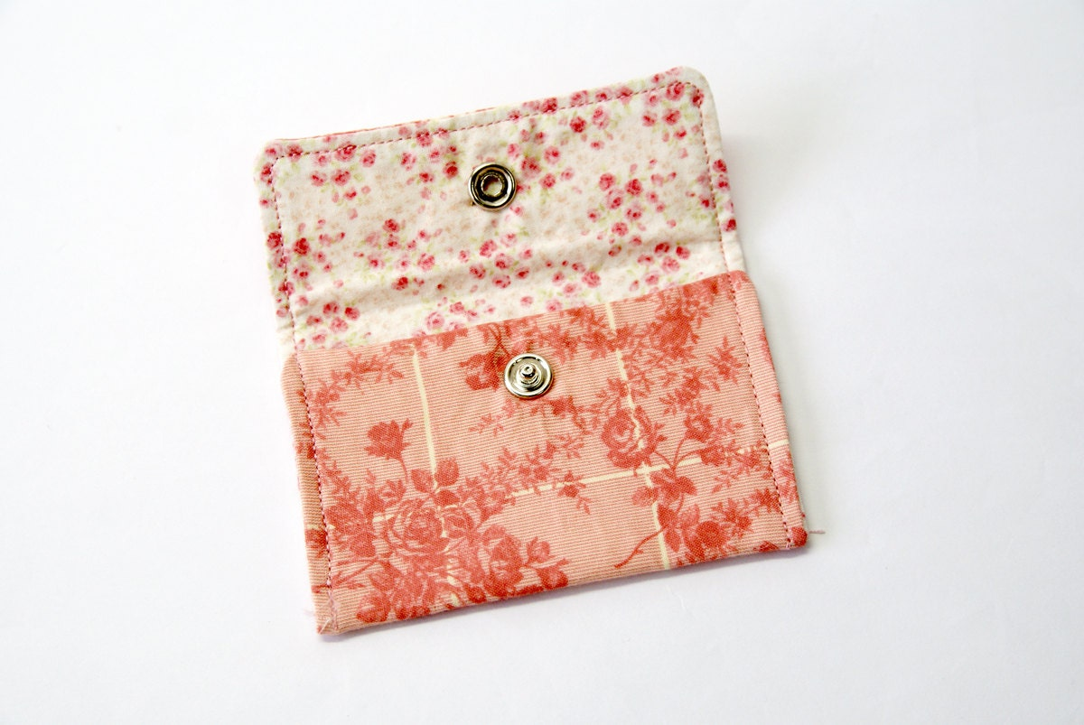 Flora Tonal Fabric Business Card Holder ~ Name Card Holder ~ Credit ...