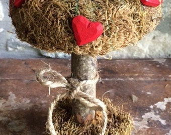 Table Decor Tree with Hearts
