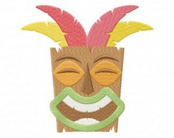 Tiki Machine Embroidery Design