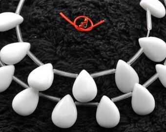 Ceramic smooth teardrop beads 10x14mm,28 pcs