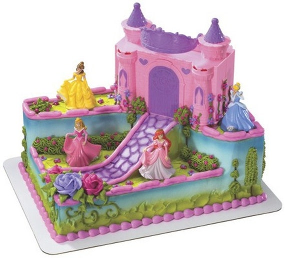 Cake Topper Disney Princess : Disney Princess Castle Case Cake Topper Decor Kit by ...