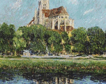 Auxerre Cathedral PDF Cross Stitch Pattern