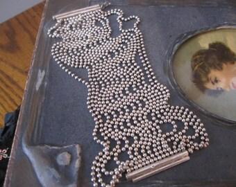 SALE// Stunning// Vintage// BEADED // Sterling Silver 925 Bracelet