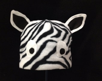 Fleece Zebra Hat