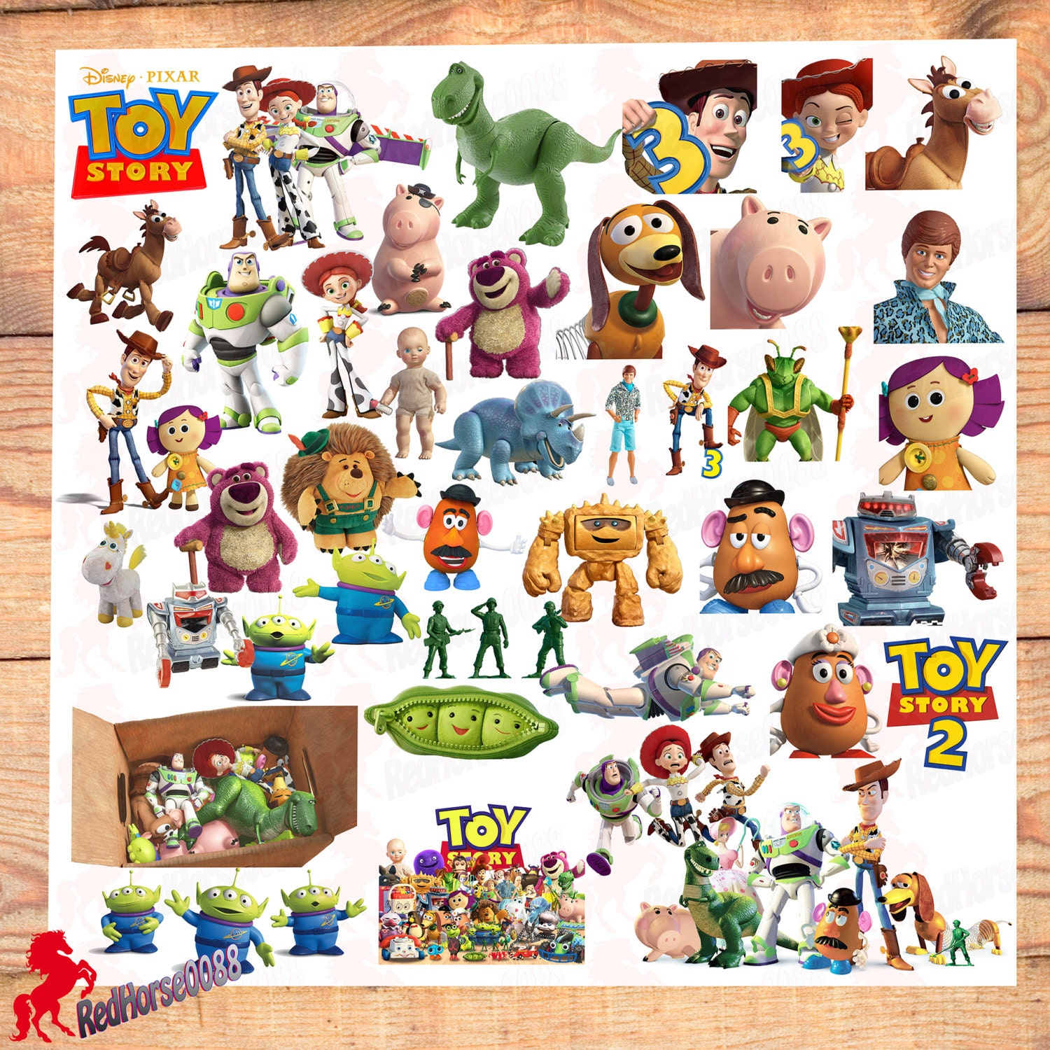 Toy Story Character List : Toy story disney pixar character png images by redhorse