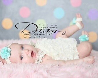Ivory Petti Romper - Baby Girl Clothing - Photography Prop - Cake Smash - First Birthday - Baptism