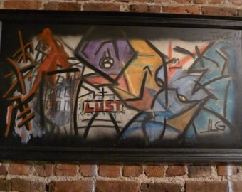 Evil Twin by Jason Grohman 5 ft. x 2.5 ft.