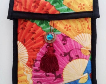 Quilted Kindle cover- fans