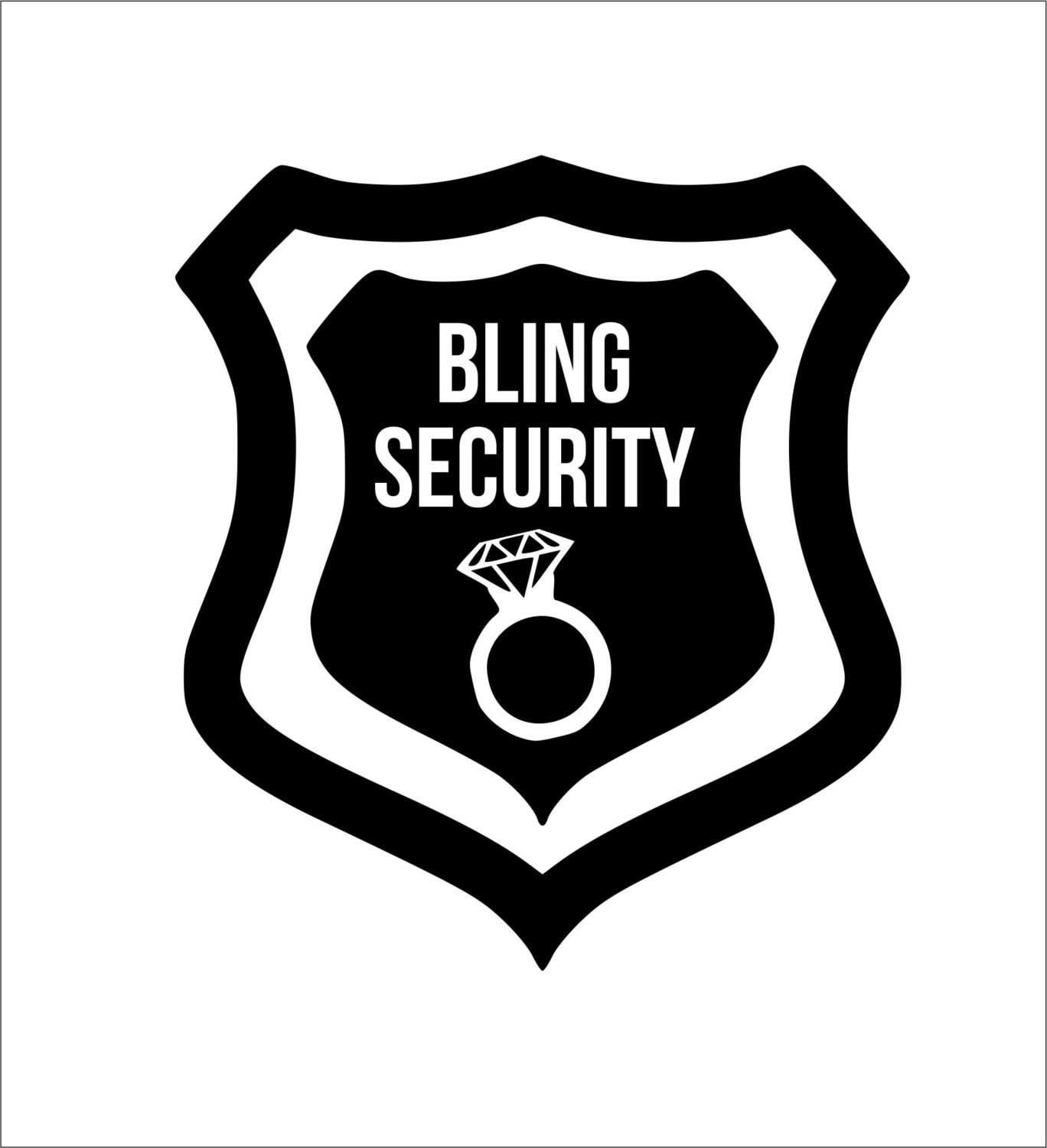bling security iron on decal any color. Black Bedroom Furniture Sets. Home Design Ideas
