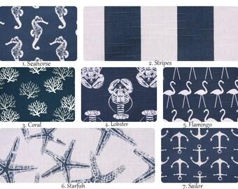 Nautical Pillow. Navy Pillow Cover. Beach Theme Pillow. Pillow Covers. Pillows. Ocean Decor. Nautical Decor