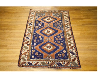 Caucasus Kazak Wool Antique Rug