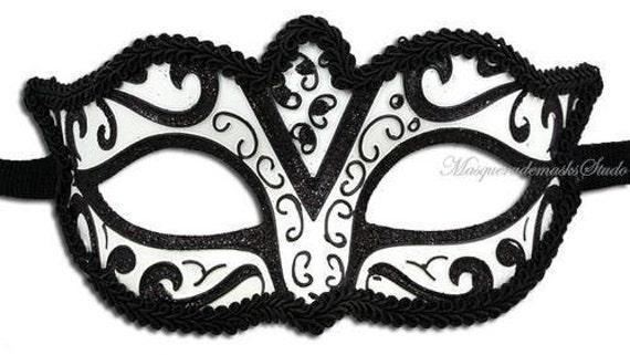 Black And White Masquerade Ball Masks White Masquerade Ball Masks