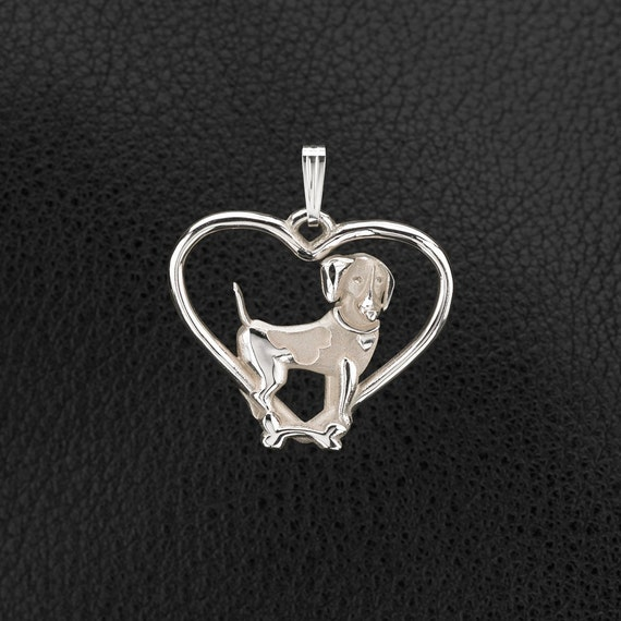 Sterling silver beagle pendant w 18 by donnapizarrodesigns for Just my style personalized jewelry studio