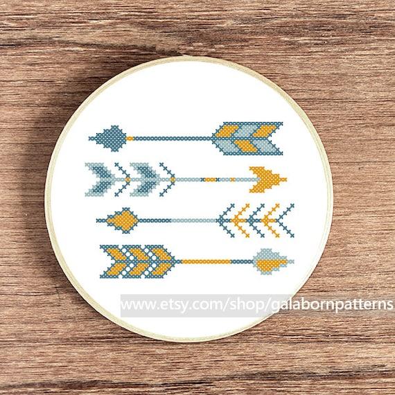 point de croix motif scandinave sur tambour en bois
