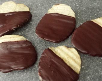 Vegan Chocolate Covered Potato Chips