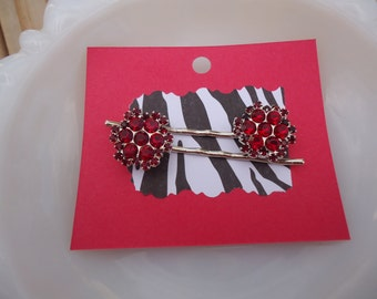 Deep Red Bobby Pin Set
