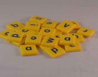 25 Vintage letter tiles