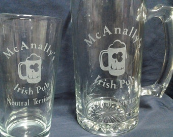 etched glasses,Geekery glasses,Dresden Files,fan beer glasses,Etched gifts, Christmas gifts,Birthday gifts