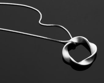 Handcrafted Sterling Silver Twist Pendant