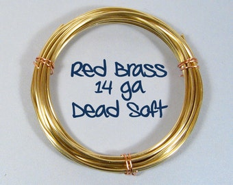 14ga 25ft DS Red Brass Wire