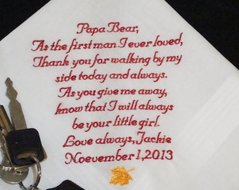 Personalized Father of the Bride, 1st Man I Ever Loved Wedding Day Keepsake - Thread Born Memories