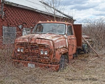 Old GMC Truck,old truck,gift idea,farm vehicle,vehicle photography,Etsy find,wall art,old classic truck,garage art,man cave art,gift for him