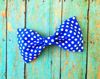 Dark Blue and White Polka Dot